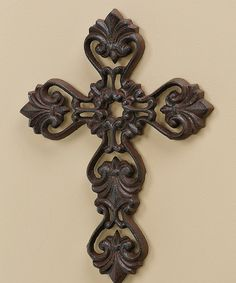 Look at this Cast Iron Cross Wall Décor on #zulily today!