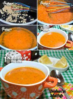 Salad Flour Soup Recipe, How to Make, Soup Recipes Flour Recipes, Turkish Kitchen, Wie Macht Man, Food Articles, Recipe Sites, Iftar, Turkish Recipes, Tomato Paste, Recipes
