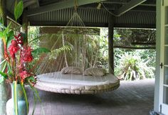 Floating Bed on porch in Australia near Daintree National Forest