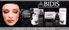 Caviar System de Abidis  El Caviar posee un alto contenido en aminoácidos, proteínas, péptidos estructurantes y oligoelementos de gran acción reparadora.  Su composición se asemeja a la de las células jóvenes de la epidermis. Combinado con la Vitamina A, desarrolla una profunda regeneración e hidratación en las pieles maduras.