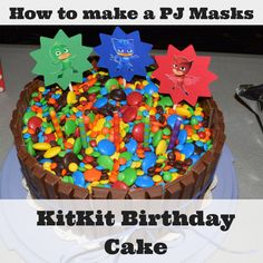 Do you have a PJ Masks fan on your hands? Here's a simple-to on making a birthday cake that will wow everyone. And it's actually really simple. Check out the easy to follow instructions and make the KitKat & M&M birthday cake they'll be talking about for years to come!