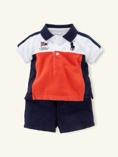 Big Pony Polo & Short Set - Layette Outfits & Gift Sets - RalphLauren.com