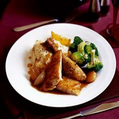 A simple roast for sophisticated guinea fowl. Serve with parsnip mash and sautéed broccoli with garlic. Mashed Parsnips, Creamy Mashed Potatoes, Guinea Fowl Recipes, Christmas Roast, Lunch Places, Rosemary Recipes, Mash Recipe, South African Recipes, Food Inspiration