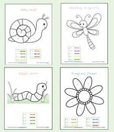 Color By Number Preschool Worksheets by estelle