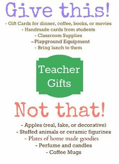 Gifts Teachers Appre