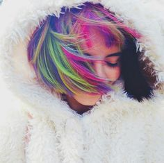Discovered by Mariana Flores. Find images and videos about hair, colors and melanie martinez on We Heart It - the app to get lost in what you love. Pelo Multicolor, Suicide Girls, Fantasy Hair, Fantasy Makeup, Coloured Hair, Dye My Hair, Pastel Hair, Bright Hair, Cry Baby