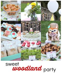 sweet woodland party Would be a cute baby shower theme as well