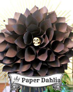 Hi Sugarplum | Easy Paper Dahlia for Halloween decor