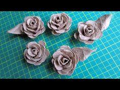 Розы из яичного лотка - YouTube
