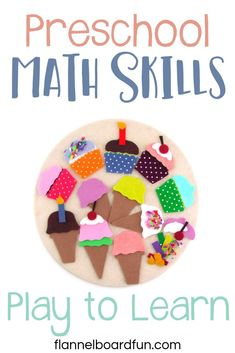 Simple felt set and simple ideas to help build preschool math skills through playful interaction with kids. Early Childhood Activities, Early Learning Activities, Fun Learning, Toddler Activities, Preschool Activities, Preschool Math, Toddler Preschool, Simple Math, Learning Through Play