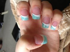 simple summer nails ~ would like this in grey & pink w/ a white line and some glitter on top.