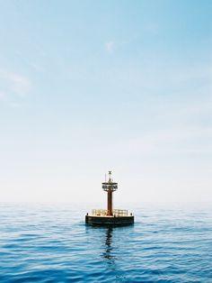 A light buoy floating reefs off the coast of Kaifu, Tokushima Prefecture, Japan. Tokushima, Markers, To Go, Coast, Channel, Japan, Sea, Spaces, Boating
