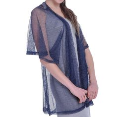 Gorgeous see through flowing batwing cover - one size fits most up to an XL