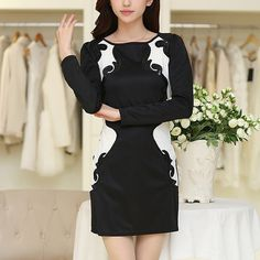 Style:Fashion Color:Long Sleeve,Short Sleeve Material:Polyester Size:S/M/L/XL S:Bust:74cm(29.13