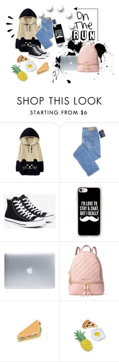 """You are my teddy bear..."" by xpeachfacex ❤ liked on Polyvore featuring WithChic, Converse, Casetify, Incase, MICHAEL Michael Kors, Old Navy and Georgia Perry"