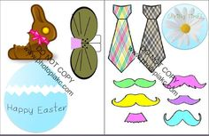 FUN printable Easter photo booth props for you and your littles!! so cute! doing this!!