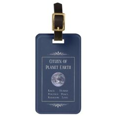 Passport Citizen of Planet Earth Luggage Tag - accessories accessory gift idea stylish unique custom