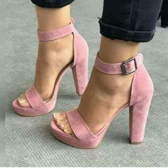 5a287484254ea2 Shop Sexy Open Toe Chunky Heeled Sandals right now