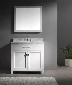 """VIRTU 36"""" CAROLINE MS-2036 TRANSITIONAL SINGLE VANITY BATHROOM CABINET SET #Virtu"""