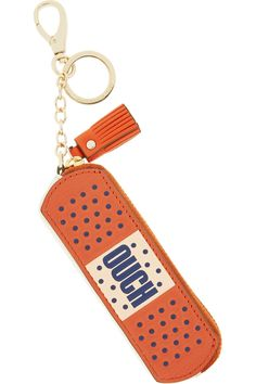 Anya Hindmarch|Ouch textured-leather bag charm|NET-A-PORTER.COM