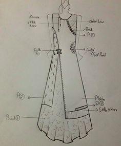 Best 12 – Page 606437906052567402 - Her Crochet Dress Design Sketches, Fashion Design Sketchbook, Fashion Design Drawings, Fashion Sketches, Kurti Neck Designs, Dress Neck Designs, Sleeve Designs, Blouse Designs, Kurti Patterns