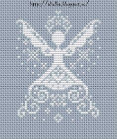 Gallery.ru / Zdjęcie nr 73 - New Year cross stitch angel monochrome