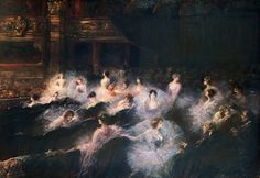 An Interval at the Opera  -   Georges Jules Victor Clairin ca.1900  French 1843-1919