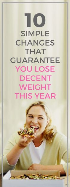 10 simple changes that guarantee you lose decent weight this year. Losing Weight Tips, Weight Loss Tips, How To Lose Weight Fast, Nutrition Tips, Health And Nutrition, Fitness Diet, Health Fitness, Fast Weight Loss, Weight Loss Motivation