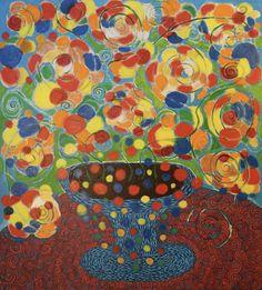 Bunch of flowers/Maarit Korhonen, 81cm x 73cm, acrylic, oilsticks, canvas Original Art For Sale, Bunch Of Flowers, Artists Like, Artwork Online, Buy Art, Saatchi Art, Abstract Art, Original Paintings, Sculptures
