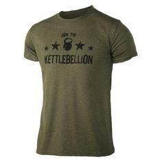 Join the Kettlebellion - Military Green - Men's Triblend T-shirt - front