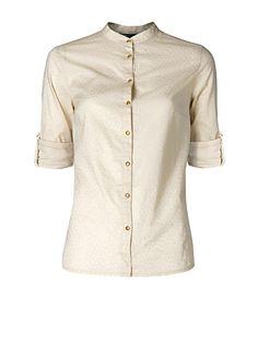 MANGO - Mao collar shirt