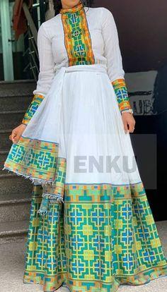 Ethiopian Beauty, Ethiopian Dress, Ethiopian Traditional Dress, Traditional Dresses, Habesha Kemis, Ethiopian Wedding, Dress Outfits, Fashion Outfits, Anna Kendrick