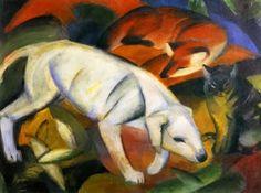 Biografía:   Franz Marc.(Munich, 1880-cerca de Verdún, Francia, 1916) Pintor alemán. Cursó estudios de filosofía y teología y, ent...