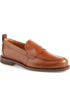 Gucci 'Tobias' Penny Loafer (Men)   Nordstrom Penny Loafers, Loafers Men, Tobias, Grosgrain, Oxford Shoes, Dress Shoes, Gucci, Nordstrom, Leather