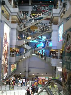 Inside enormous mall (called MBK) in Bangkok.  I caught lost one day and couldn't find my way out.