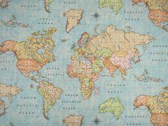 Nueva remesa de tapicerías. Seguro que ésta de Mapa Mundi se convierte en una de vuestras favoritas: en ancho de 280 cm. a 9.95 €/m. ¡Nos encanta! [En los próximos días disponible en la web. Ya a la venta en tienda física.]