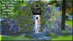 Sims 4 CC's - The Best: Animated Waterfall Rock by Asyli
