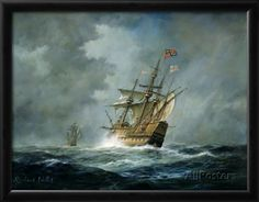 'Mary Rose' - Vintage Sailing Ship by Richard Willis