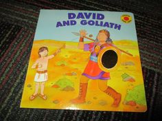 DAVID & GOLIATH TOUCH & FEEL, LIFT THE FLAP BOARD BOOK, GREAT READ, GUC