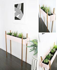 Idéia para paredes estreitas e pouco espaço no ambiente.