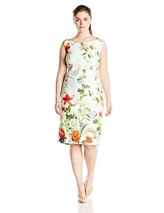 Gabby Skye Women's Plus-Size Floral Printed Sheath Dress,... http://www.amazon.com/dp/B01BEW2YI8/ref=cm_sw_r_pi_dp_lesgxb1KRWWG3