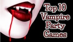 Creative vampire party ideas and DIY games!  Perfect for fans of True Blood, Twilight, Vampire Diaries, or just those that want to theme their party after the classic iconic vampire!!