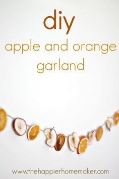Tutorial to make a dried apple and orange garland. Perfect for fall and Christmas!