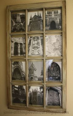 Wall Art With Old Windows | Found on janis-allthingsbeautiful.com