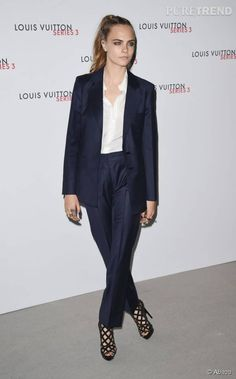"Cara Delevingne au vernissage de Louis Vuitton ""Series 3"" à Londres le 20 septembre 2015."