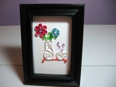 Quilling. Tea and flowers