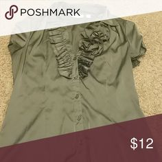 Shiny silver top New York and company polyester top. Shiny grey/silver. New York & Company Tops Blouses