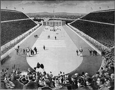 Panathinaiko Stadium - host of first modern Olympic Games in 1896 Summer Olympics, Female Athletes, Olympic Games, Athens, Gymnastics, Around The Worlds, Events, Modern, Pictures