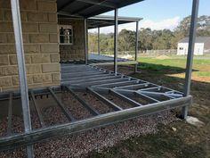Deck Over Concrete Porch . Deck Over Concrete Porch . Decor Of Deck Over Concrete Patio Outdoor Concrete Patios Steel Framing, Deck Framing, Deck Over Concrete, Concrete Porch, Building Stairs, Building A Porch, Porch Roof, Roof Deck, Porch Beams