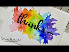 Watercolor Bursting Thank You Card | Scraps & Stamps
